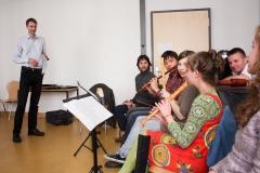 Jostein Gundersen während seines Workshops in der HMT