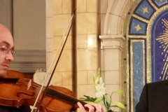beim Abschlusskonzert in der Michaeliskirche: Matthieu Camilleri und Andreas Böhlen...