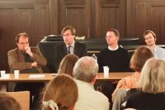 bei der Podiumsdiskussion: Markus Jans, Ludwig Holtmeier, Christian Fischer, Pierre Funck, Martin Erhardt, Alexander Grychtolik